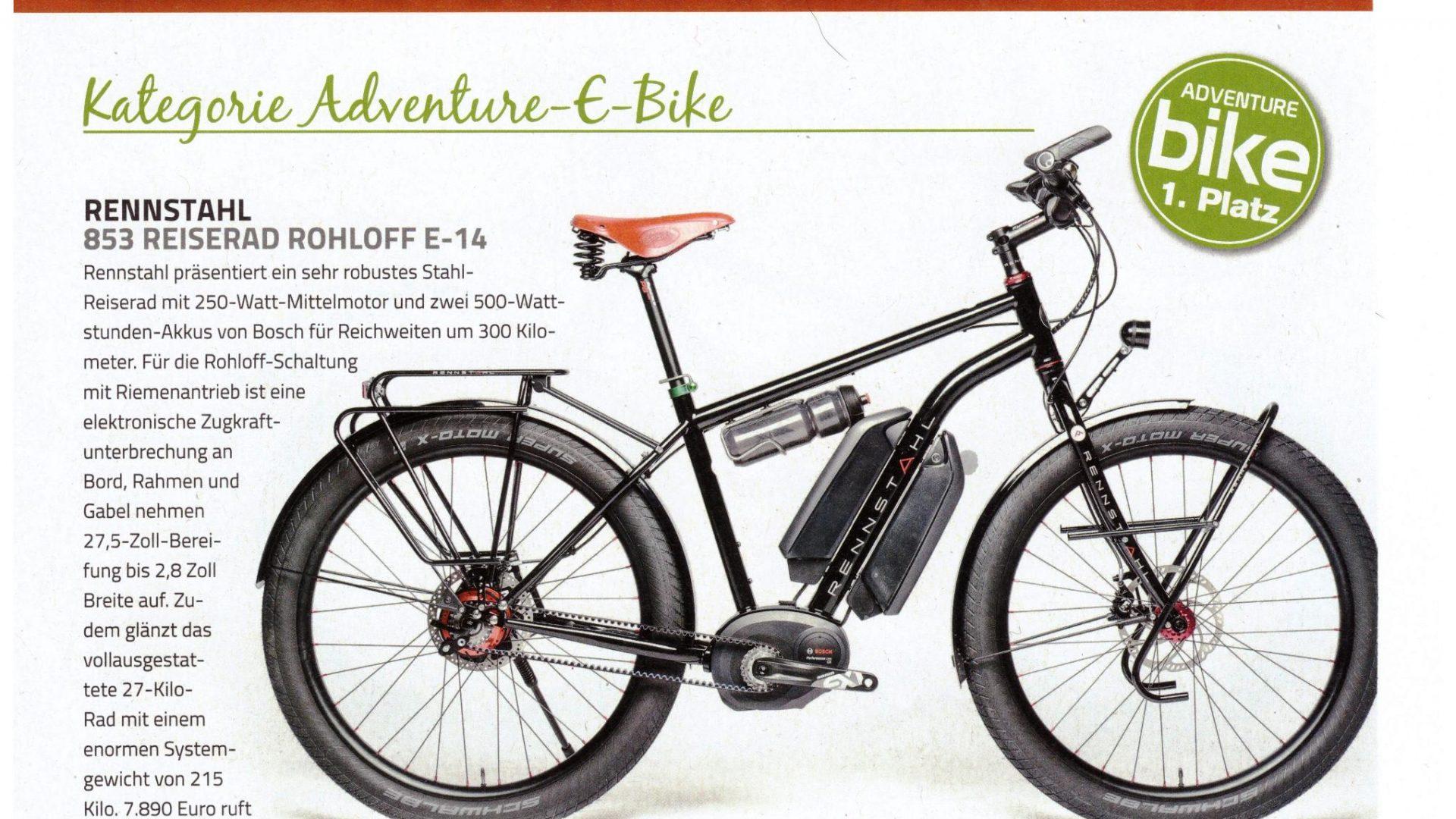 Platz 1 in der Leserwahl Adventure Bike 2019